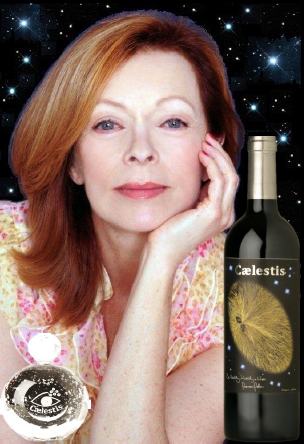 Frances Fisher with Caelestis organic wine & perfume for WWF-2013